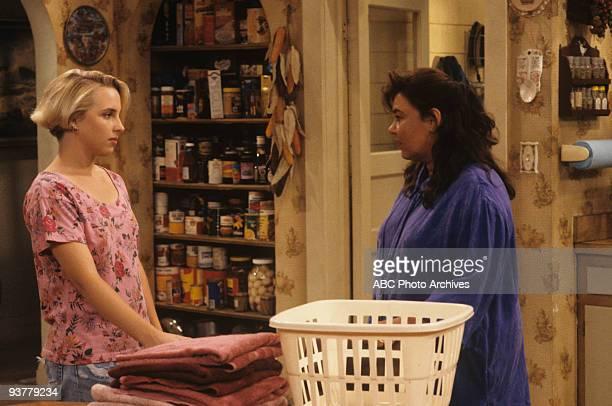 ROSEANNE Terms of Estrangement Part 1 Season Five 9/15/92 Lecy Goranson Roseanne Barr on the Walt Disney Television via Getty Images Television...