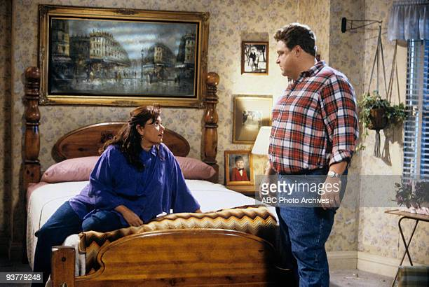 ROSEANNE 'Terms of Estrangement Part 1' Season Five 9/15/92 Roseanne Barr John Goodman on the ABC Television Network comedy 'Roseanne' Becky is upset...