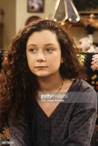 ROSEANNE 'Terms of Estrangement Part 1' Season Five 9/15/92 Sara Gilbert on the ABC Television Network comedy 'Roseanne' Becky is upset after Mark...