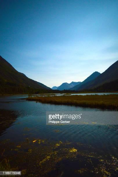tern lake, kenai peninsula, alaska - kenai mountains stock pictures, royalty-free photos & images