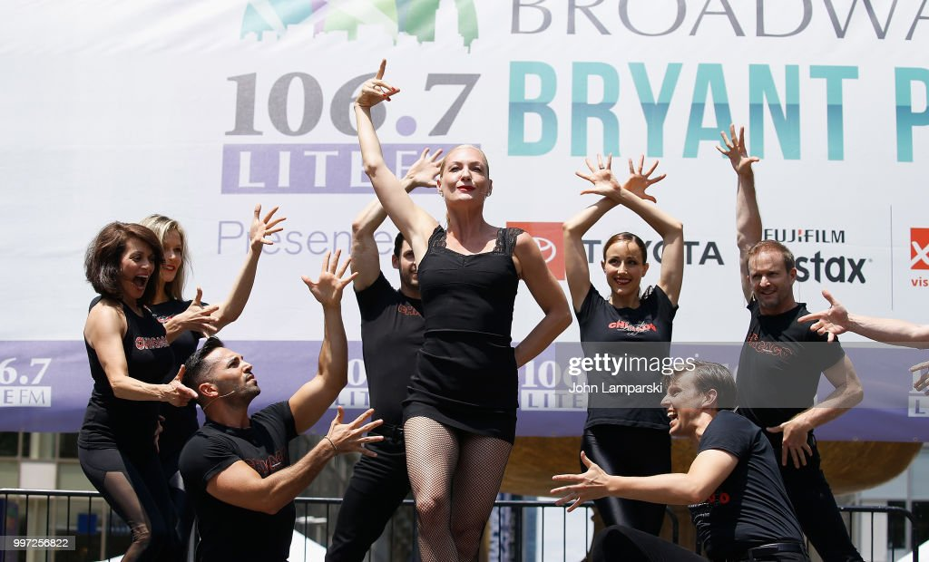 Terra C. MacLeod and cast of Chicago perform during 106.7 LITE FM's Broadway in Bryant Park on July 12, 2018 in New York City.