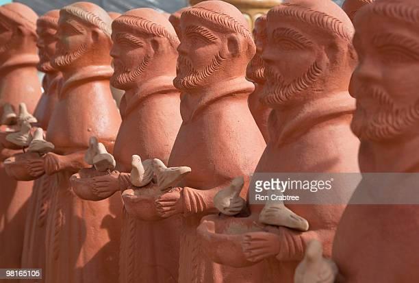 terra cotta Saint Francis statues