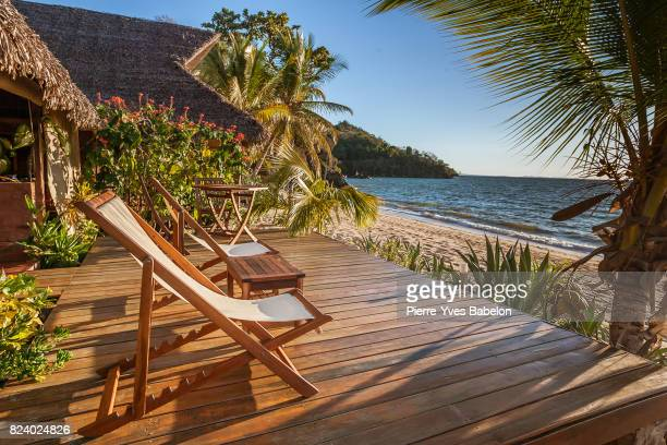 terrace at sunset - pierre yves babelon madagascar stock pictures, royalty-free photos & images