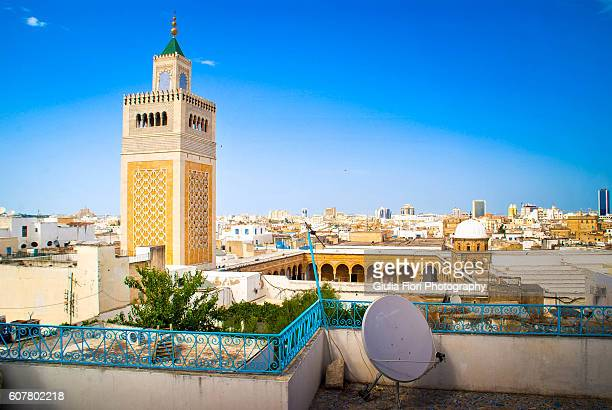 terrace covered in mosaics in tunis - tunisia stock pictures, royalty-free photos & images
