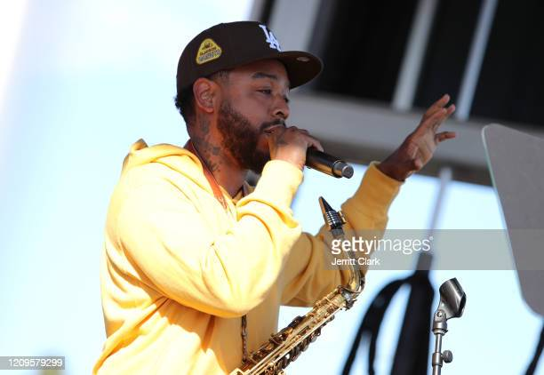 Terrace Martin performs at Destination Crenshaw Groundbreaking Event with over 2000 community residents including Emmy Nominated Actress and Writer...