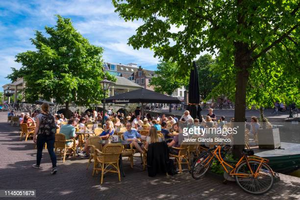 Terrace of a bar in Leiden