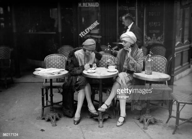Terrace of cafe Paris about 1925