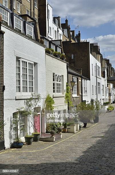 A terrace of homes on Bryanston Mews East