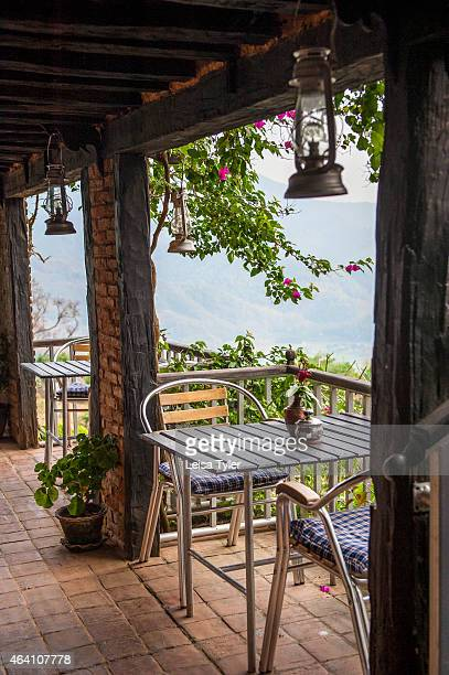 Terrace of Ke Garne café by trekking company Himalayan Encounters in Bandipur A former wealthy trading hub Bandipur was almost a ghost town before...