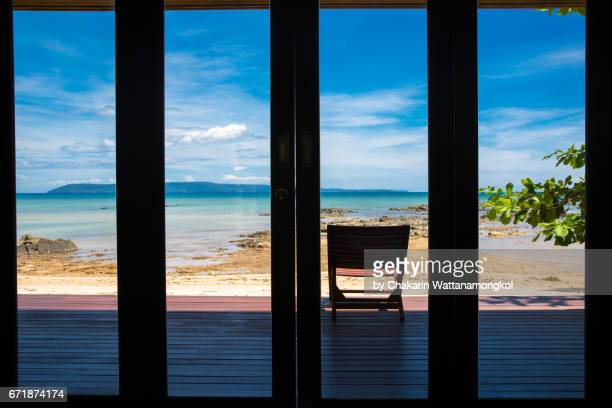 Terrace with Sea View and Blue Sky