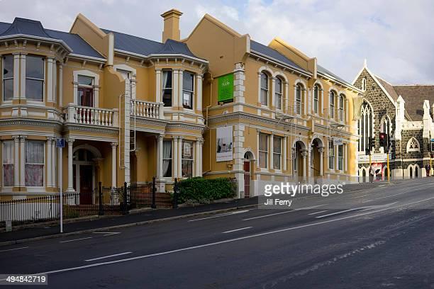 Terraced buildings in Upper Stuart Street Dunedin
