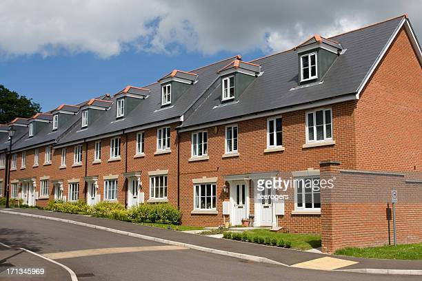Terraced houses in England