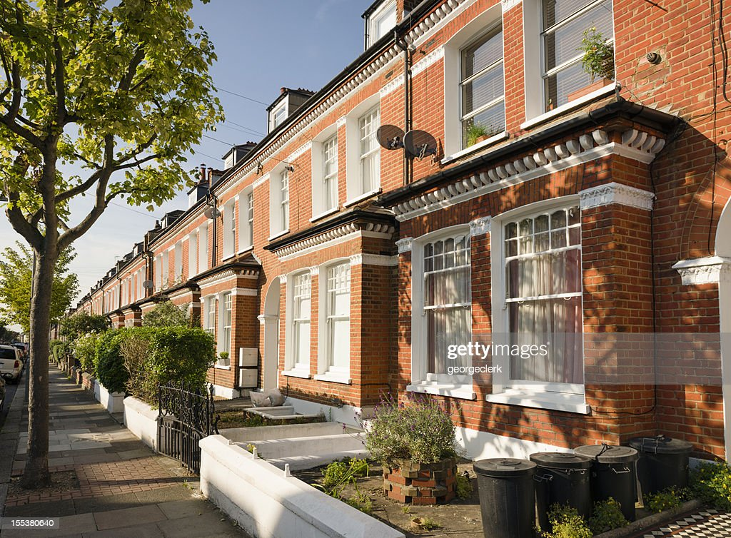 Terraced Houses in South London : Stock Photo