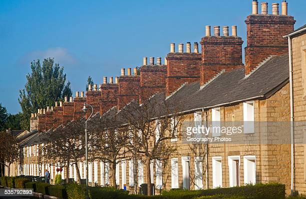 Terraced housing in the nineteenth century planned Railway Village built for workers in the Great Western Railway Swindon England UK