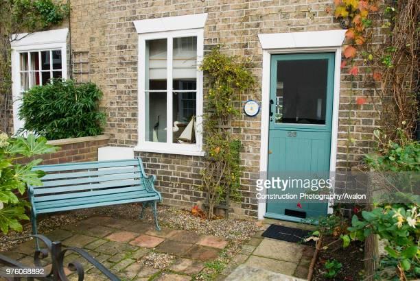 Terraced Victorian cottage, Woodbridge, Suffolk, UK.