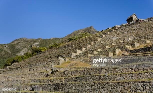 Terraces and Guard House at Machu Picchu, Peru