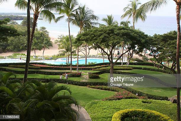 Terraces define the grounds at Hapuna Beach Prince Hotel