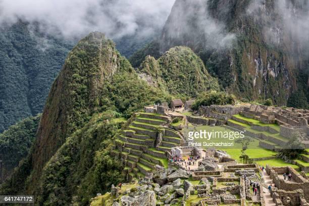 Terraces of Machu Picchu Lost City, Peru