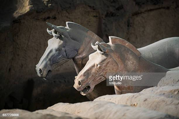 Terracotta Army a collection of terracotta sculptures depicting the armies of Emperor Qin Shi Huang the first Emperor of China on 06 October 2016 in...