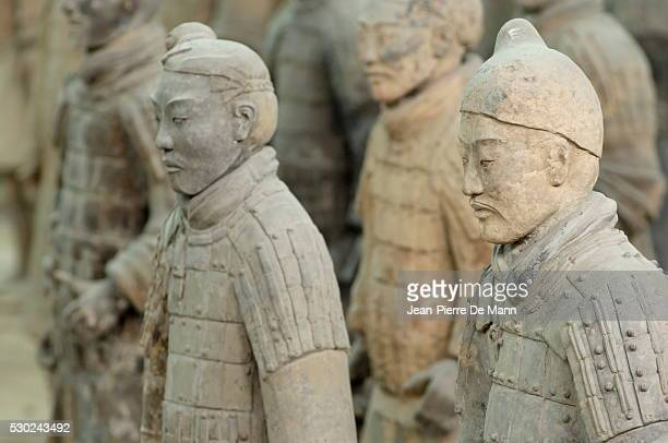 Terracotta Army, guarded the first Emperor of China, Qin Shi Huangdi's tomb, Xian, Lintong, Shaanxi, China, Asia