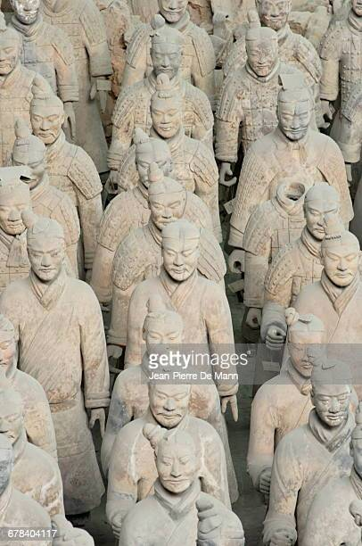 Terracotta Army, guarded the first Emperor of China, Qin Shi Huangdis tomb, Xian, Lintong, Shaanxi, China, Asia