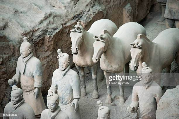 Terracotta Army is a collection of terracotta sculptures depicting the armies of Qin Shi Huang, the first Emperor of China
