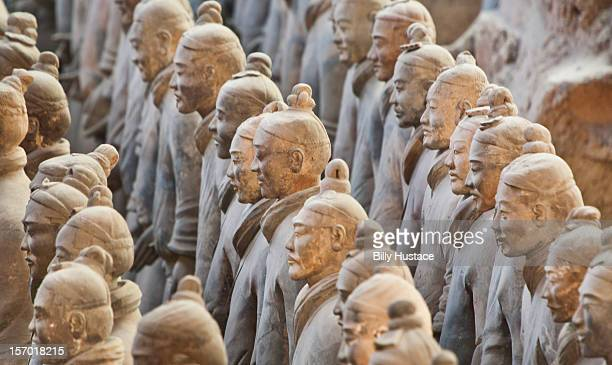 terracotta army warriors, xian, china - terracotta army stock pictures, royalty-free photos & images