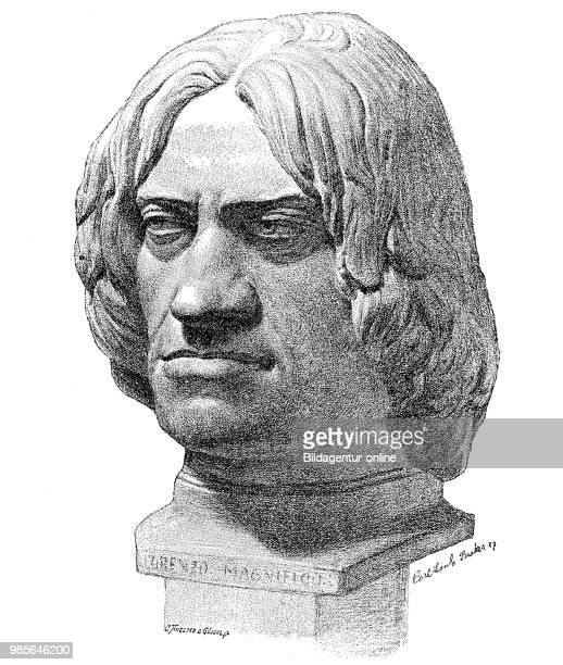 Terracotta bust of Lorenzo de Medici il Magnifico January 1 1449 April 8 was a banker and politician in Florence of the Medici family digital...