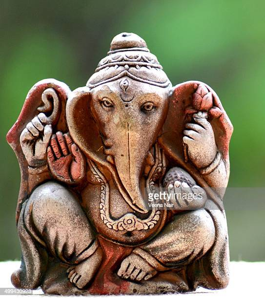 terracotta, eco-friendly lord ganesh - ganesha stock photos and pictures
