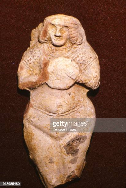 Terracotta Fertility goddess Ishtar Old Babylonian c2000 BC Ishtar was the Mesopotamian goddess of love beauty sex desire fertility war combat and...