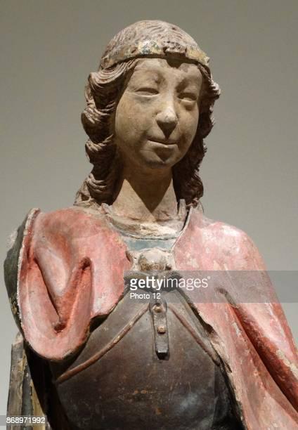 Terracotta statuette of the Archangel Michael by Lorenzo Mercadante also known as Lorenzo Mercadante de Bretana a Breton sculptor during the 15th...