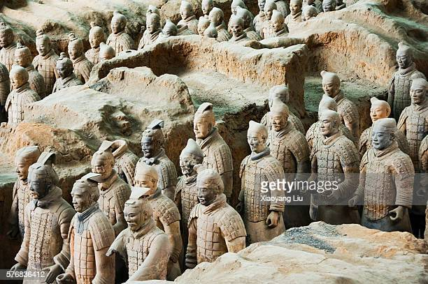 Terracotta Warrior Statues in Qin Shi Huangdi Tomb