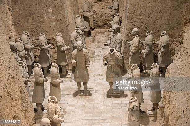 Terracotta Warriors is a collection of culptures depicting the armies of Qin Shi Huang, the first Emperor of China.