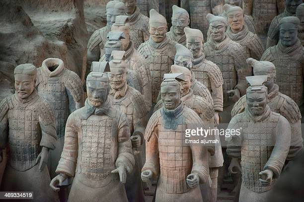 Terracotta Warriors is a collection of culptures depicting the armies of Qin Shi Huang, the first Emperor of China