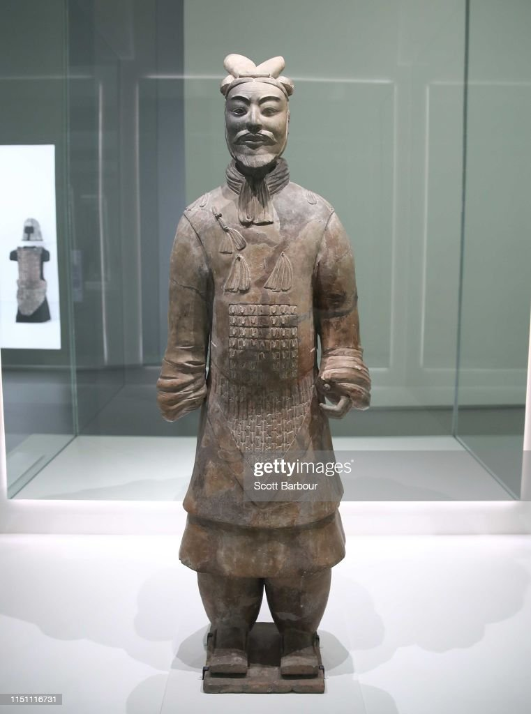 National Gallery Of Victoria Unveils Terracotta Warriors: Guardians Of Immortality | Cai Guo-Qiang: The Transient Landscape : News Photo