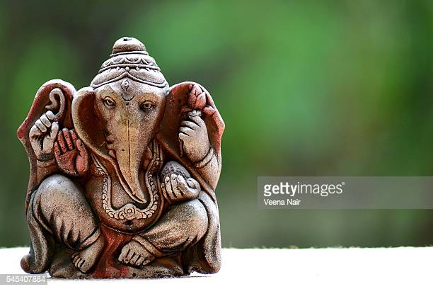 terracotta,eco-friendly lord ganesha - ganesh chaturthi stock photos and pictures