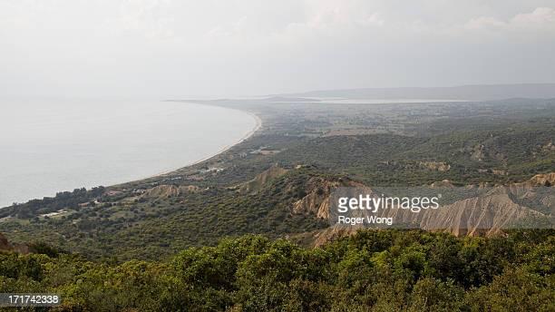 CONTENT] Terrain of Gallipoli battlefields from Chunuk Bair