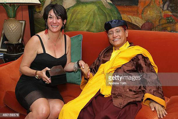 TerraMar's Ghislaine Maxwell and his holiness the Gyalwang Drukpa attend StarTalk Radio's climate change panel discussion and reception at Beacon...