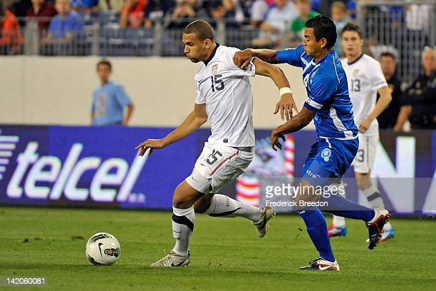 Terrance Boyd of the United States plays against El Salvador during a 2012 CONCACAF Men's Olympic Qualifying match at LP Field on March 26 2012 in...