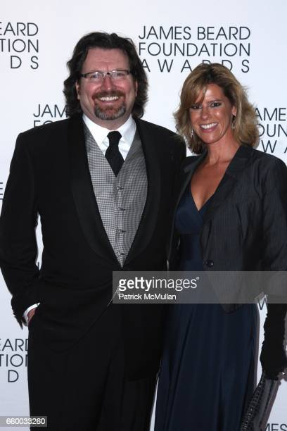 Terrance Brennan and Wendy Knight attend The 2009 JAMES BEARD FOUNDATION AWARDS at Avery Fisher Hall at Lincoln Center on May 4 2009 in New York City