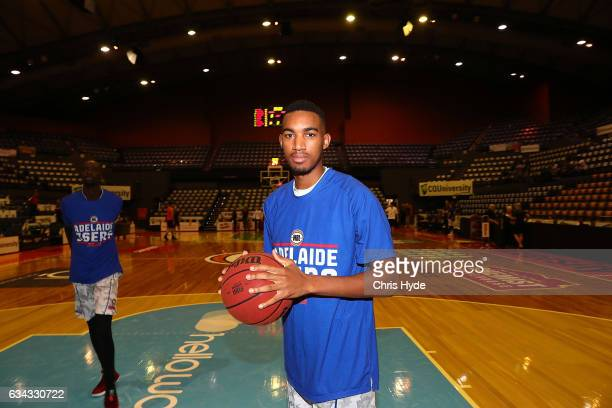 Terrance Ferguson of the 36ers warms up before the round 19 NBL match between the Cairns Taipans and the Adelaide 36ers at the Cairns Convention...