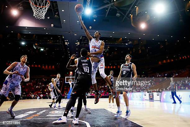 Terrance Ferguson of the Adelaide 36ers shoots during the Australian Basketball Challenge match between Adelaide 36ers and Melbourne United at...