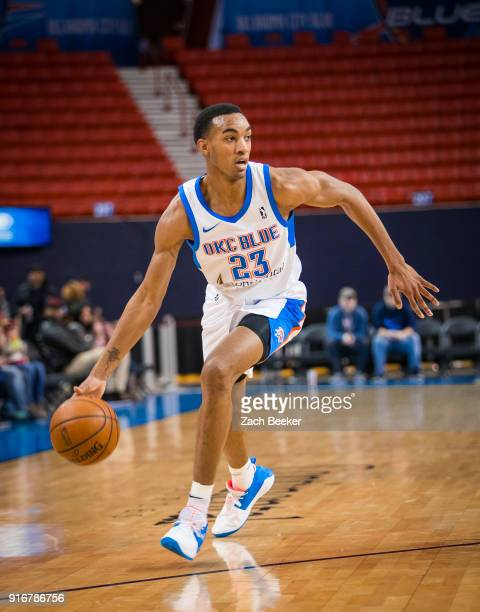 Terrance Ferguson of the Oklahoma City Blue handles the ball against the Salt Lake City Stars on February 10 2018 at the Cox Convention Center Arena...