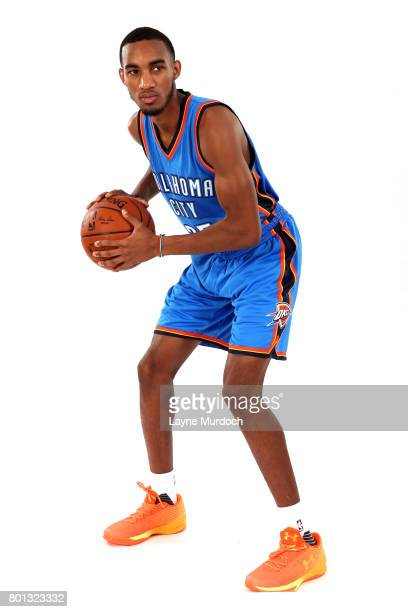 Terrance Ferguson of the Oklahoma City Thunder poses for a portrait after being introduced to the team on June 24 2017 at the CHK Central Boathouse...
