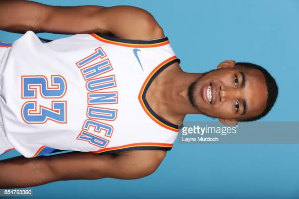 Terrance Ferguson of the Oklahoma City Thunder poses for a portrait during 2017 NBA Media Day on September 25 2017 at the Chesapeake Energy Arena in...