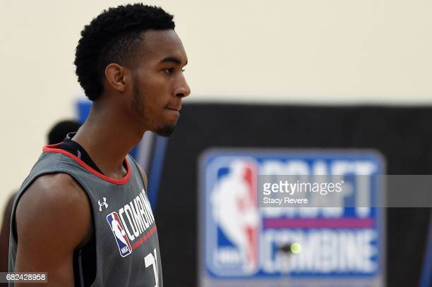 Terrance Ferguson participates in drills during Day Two of the NBA Draft Combine at Quest MultiSport Complex on May 12 2017 in Chicago Illinois NOTE...