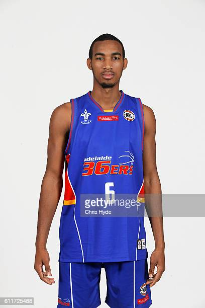 Terrance Ferguson poses during the Adelaide 36ers 2016/17 NBL headshots session at Rydges Southbank on September 22 2016 in Brisbane Australia