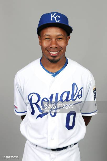 Terrance Gore of the Kansas City Royals poses during Photo Day on Thursday February 21 2019 at Surprise Stadium in Surprise Arizona