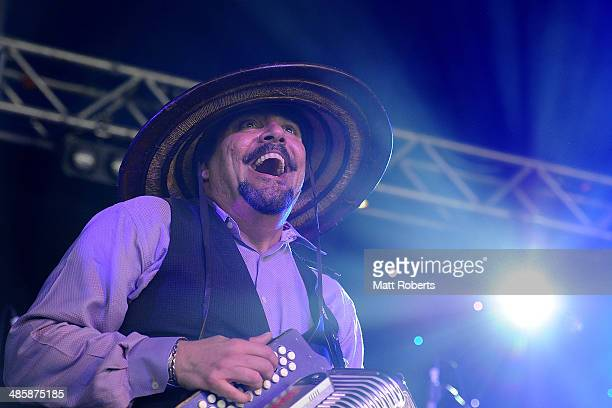 Terrance Simien performs live for fans at the 2014 Byron Bay Bluesfest on April 21 2014 in Byron Bay Australia