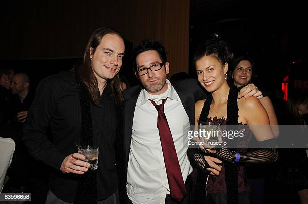 Terrance Zdunich director Darren Lynn Bousman and Alisa Burket attend the 'Repo The Genetic Opera' special screening after party at Prive at Planet...